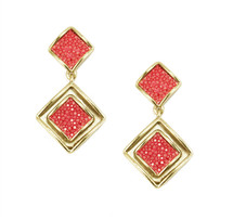 Raya Solid Tone Drop Earring - more colors