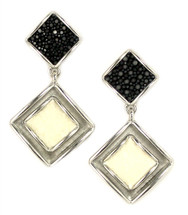 Raya Drop Earring - Black/White