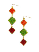 Raya Multi Triple Drop Earring - more colors