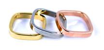 Sadie Ring Set of Three - Tri-Color