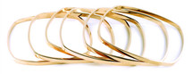 Skinny Square Bangle - Single Bangle - more colors