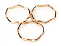 Wavy Midi Rings Set of 3 - more colors: Seen on Alyson Stoner!