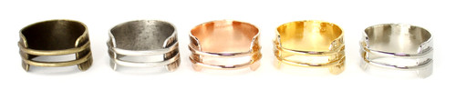 Antique brass, antique silver, rose, gold, silver plated