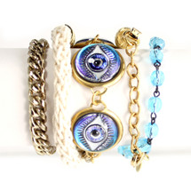 Evil Eye Wrap Bracelet/Necklace