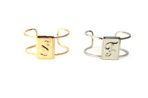 Monogram Initial Cuff: Seen in Real Simple! Letters: D, F,  last ones!