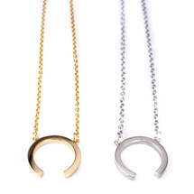 Small Reverse Ellipse Necklace -more colors