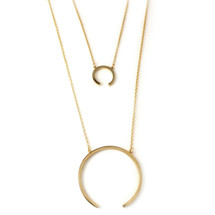 Ellipse Layered Necklace -more colors