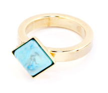 One Square Midi Ring Gold