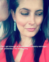 Six Square Earring Gold: Seen on Dawn McCoy!