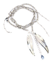 Feather Wrap Bracelet/Necklace Silver