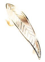 Feather Ear Cuff Gold