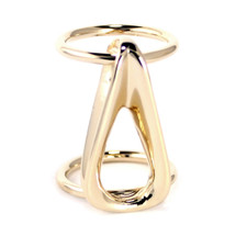 Infinity Ring Gold/Silver: Seen On Angela Lewis of Snowfall on FX!