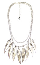 Ten Feather Short Necklace Silver
