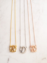 Circle Monogram Initial Necklaces: Seen on Today Show!