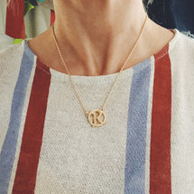 Circle Monogram Initial Necklaces: Seen on TV!