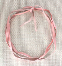 Noel Leather Wrap Choker - Pink