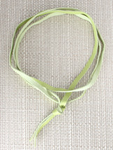 Noel Leather Wrap Choker - Lime