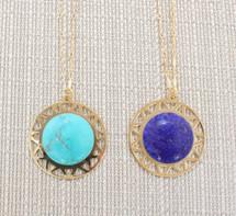 Santorini Necklace - Turquoise