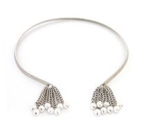 Pearled Collar Silver