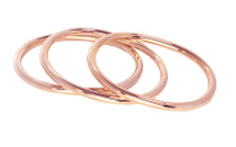 The Oval Bangle Set Rose: Seen in Oprah!