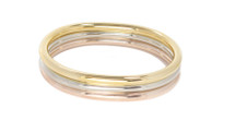 The Oval Bangle Set Tri Color: Seen in Oprah!