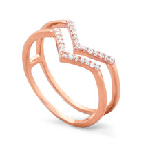 Rosie V Ring (sterling)