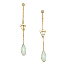 Chalcedony Triangle Drops *Sterling Silver*