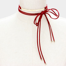 Burgundy Bar Choker *Limited Edition*