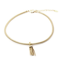 Feeling Fringey Choker - Gold: Seen in Family Circle!