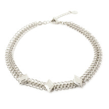 Diamond Sky Choker-Silver