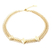 Diamond Sky Choker-Gold