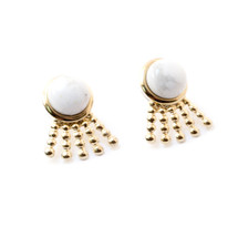 Sunray Earrings -Howlite