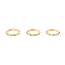 Spokes Ring Set -Gold