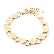 Going In Circles Bracelet -Gold