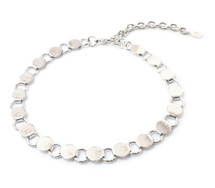 Going In Circles Choker -Silver