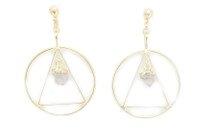 Circle Triangle Earrings: Seen on inas X!