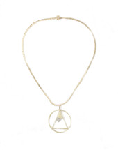 Circle Triangle Necklace: Seen on Nia Sioux!