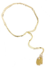 Encircled Lariat Necklace: Seen on Jules Look Book & on Jill Martin on Today Show!