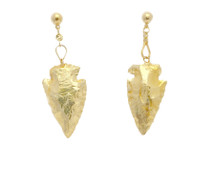 Golden Arrow Earrings: Seen in Oprah!