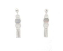 Canyon Moon Earrings -Silver
