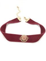 Morocco Velvet Choker -Burgundy: Seen on Today Show!