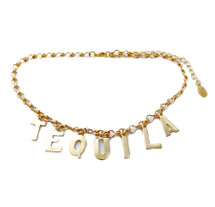 TEQUILA Necklace: Seen on The Style Sauce & IN SWAAY Valentine Gift Guide!