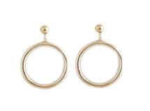 Full Circle Drop Hoops - Gold: Seen on Lexy Pantera!