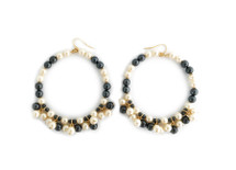 LAST PAIR! All The Pearls Hoops: Seen on Rosanna Vanoni!