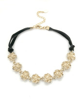 Golden Roses Choker: Seen on Today Show!