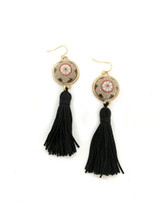 Morocco Tassel Earrings - Black