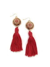 Morocco Tassel Earrings - Red