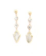 Midas Earring - Clear Quartz