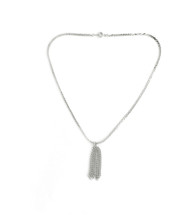 Everyday Tassel Necklace - Silver: Seen On Code Of Style!