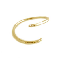 Twisted Snake Cuff -Gold